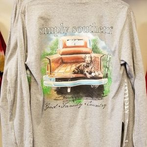Simply Southern Brown lab truck t shirt